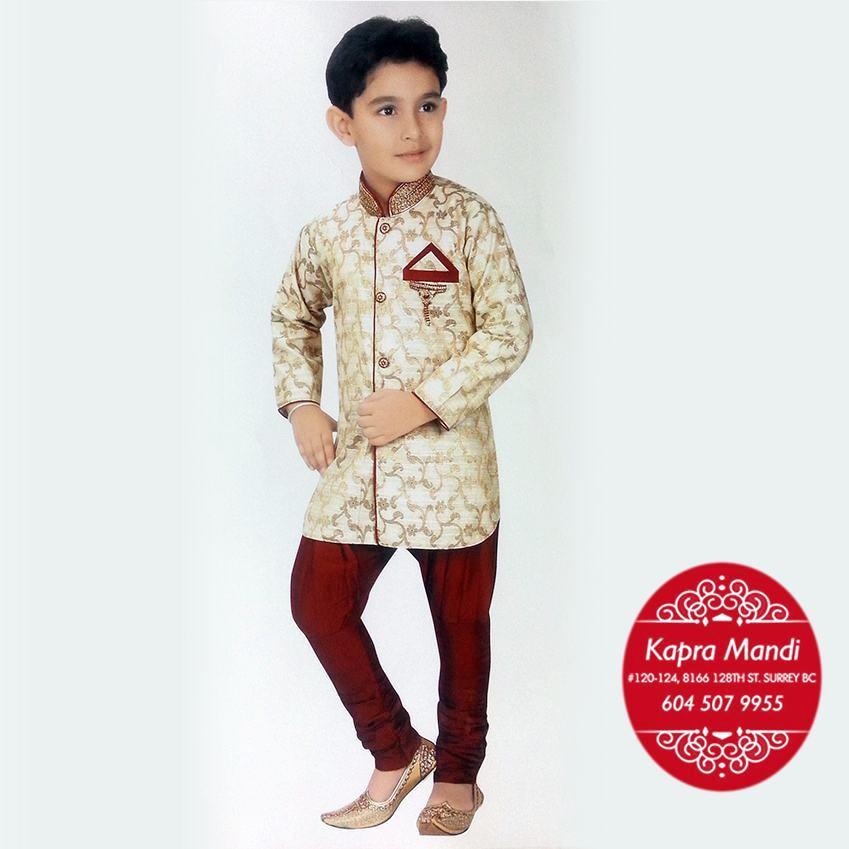 Kids Designer Cloths | Kids Designer Clothes For Boys Kmkb01 Kapra Mandi Fabric Store
