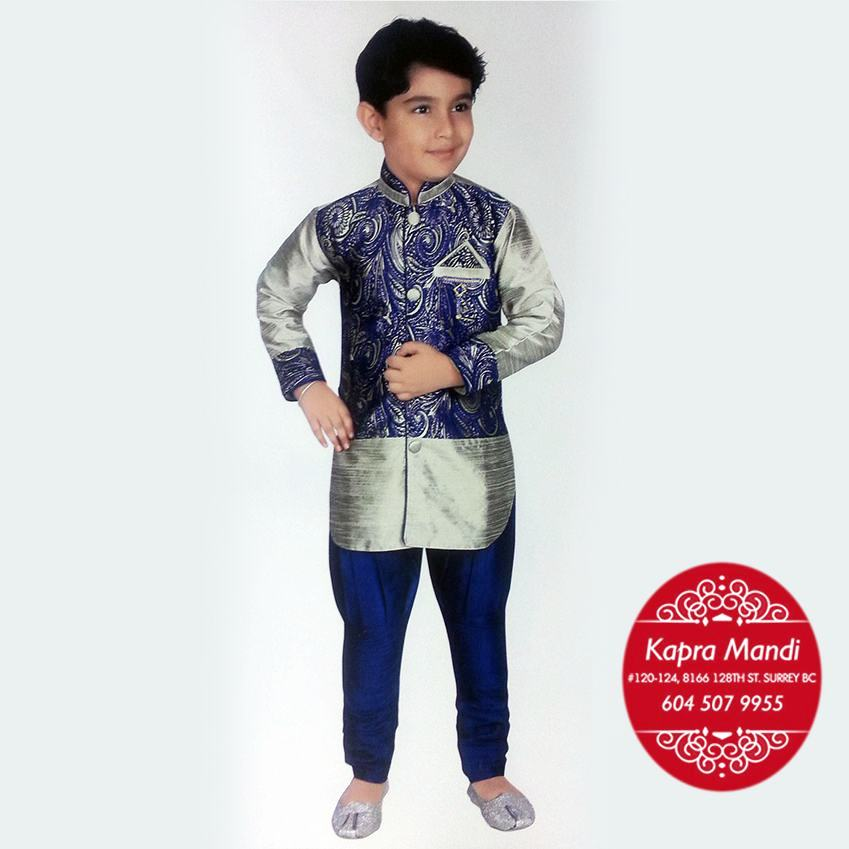 Children Designer Clothes | Kids Designer Clothes For Boys Kmkb06 Kapra Mandi Fabric Store
