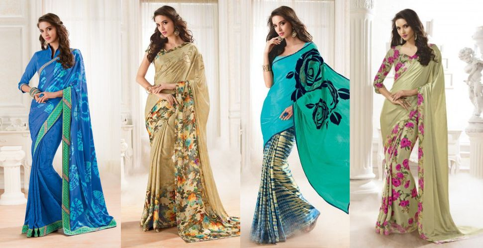 Extensive collection of Satin Georgette Sarees