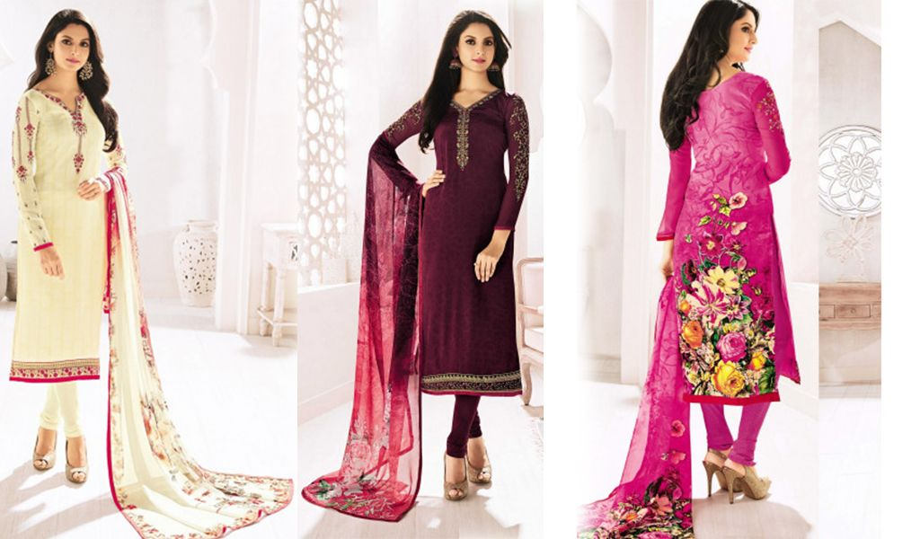Crepe Salwar Kameez Collection- Kapra mandi fabric store