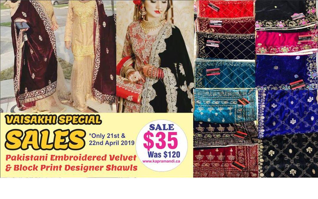 Vaisakhi Mega Sales on Pakistani Style Fabrics