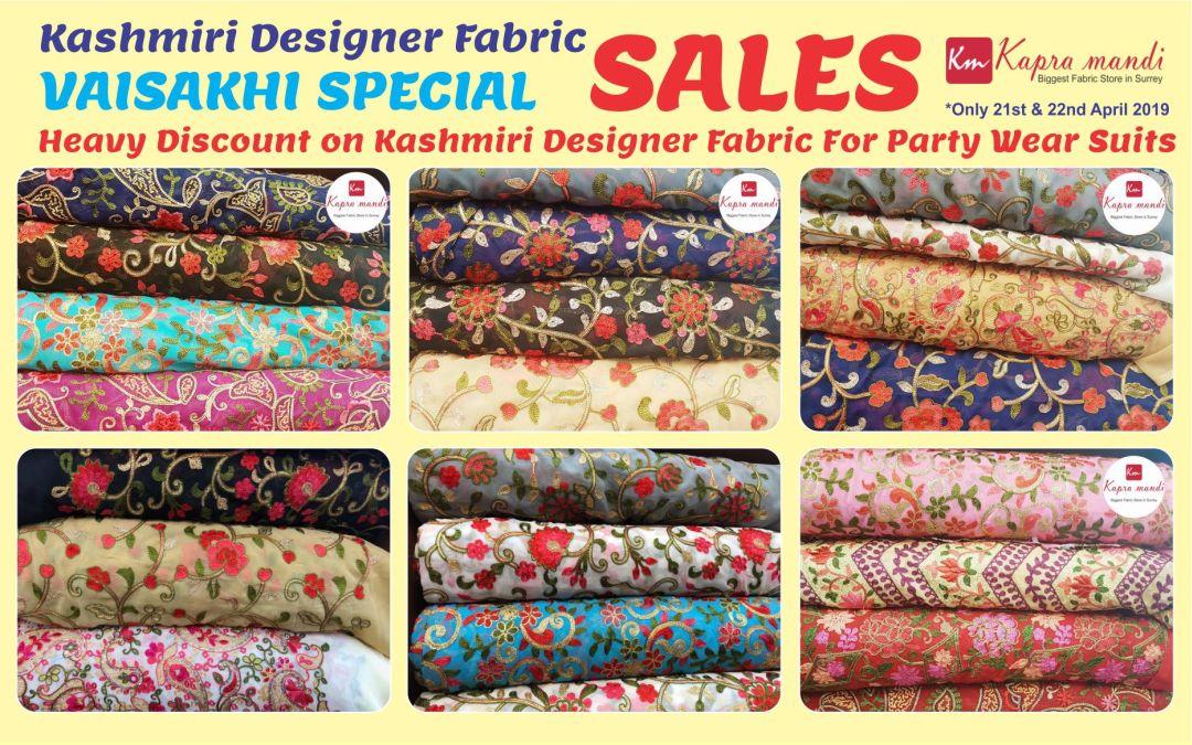 Vaisakhi Special Discounts on Kashmiri Fabric