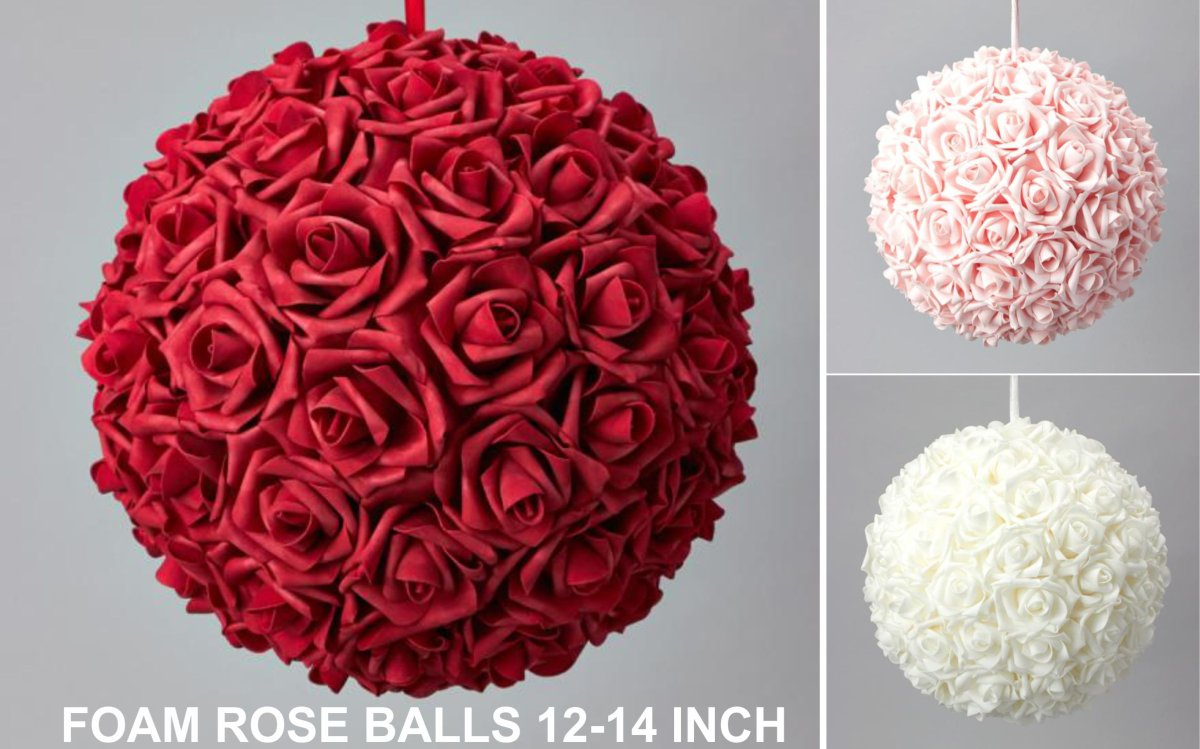 FOAM ROSE BALL 12-14 INCH